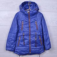 Куртка подростковая демисезонная A-5 для девочек. 128-152 см (8-12 лет). Электрик. Оптом., фото 1