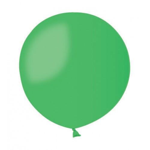 Шар без рисунка 45 см зеленый с гелием
