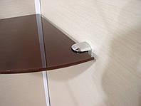 Полка стеклянная угловая 4 мм коричневая 30 х 30 см, фото 1