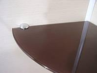 Полка стеклянная угловая 6 мм коричневая 25 х 25 см