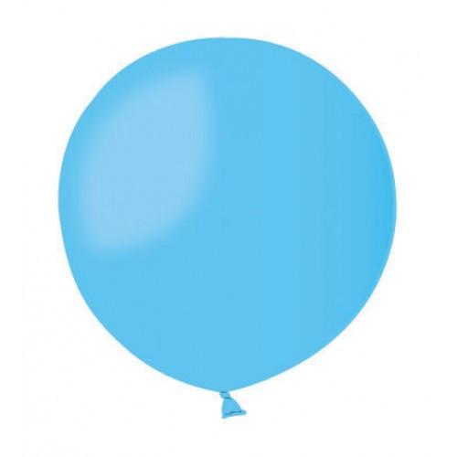 Воздушный шар без рисунка 48 см голубой
