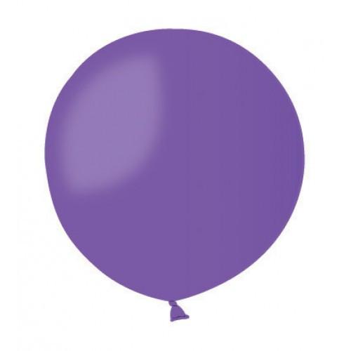 Шар без рисунка 45 см фиолетовый с гелием