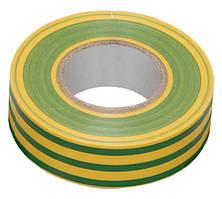 Изолента 0,13х15 мм желто-зеленая 10 метров ИЭК