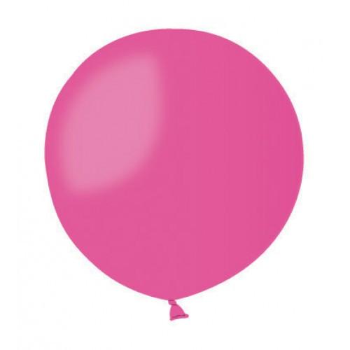 Воздушный шар без рисунка 48 см малиновый