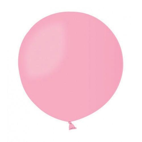 Шар без рисунка 45 см розовый с гелием