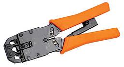 Инструмент обжим для RJ-45,12,11 с храп. мех верт. обжим