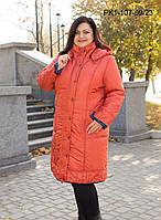 Пальто модное женское больших размеров Сесиль размеров 56, 58, 60, 62 по распродаже