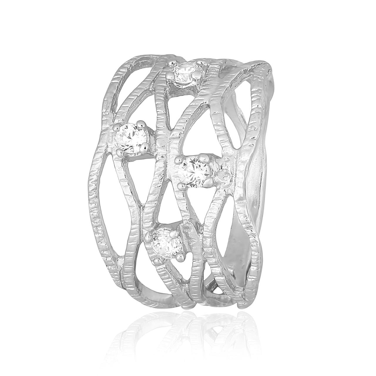 """Серебряное кольцо с камнями """"451"""""""