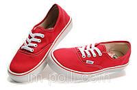Мужские кеды Vans красные, фото 1