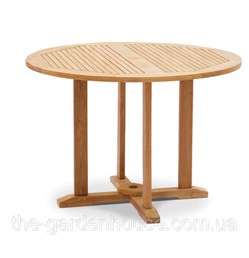 Обеденный стол Andria из тика Ø 110 см