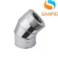 Дымоходное колено в кожухе 45º (0,6мм)