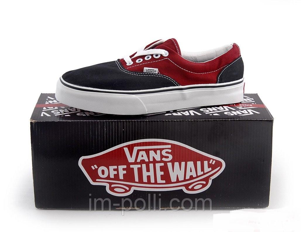 Мужские кеды Vans черно-красные