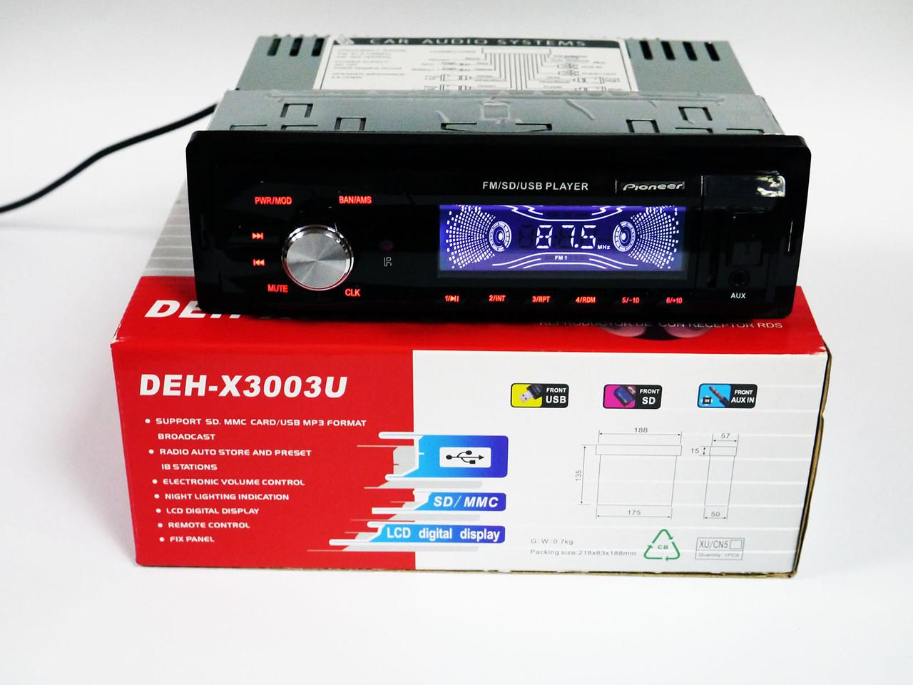 Автомагнитола Pioneer DEH-X3003U - USB+SD+FM+AUX, фото 1