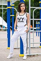Женский спорт костюм штаны и боди без рукавов