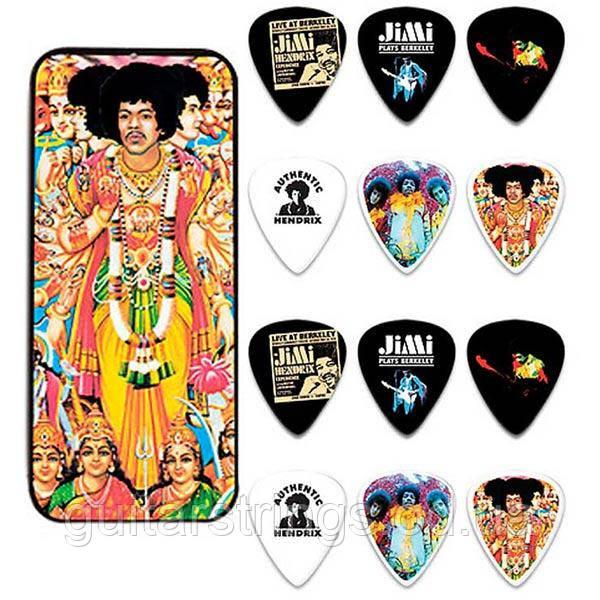 Набор Медиаторов Dunlop JH-PT02M Jimi Hendrix Signature Bold As Love Medium