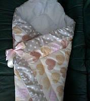 Конверт на выписку, одеяло для новорожденного Осень-Зима