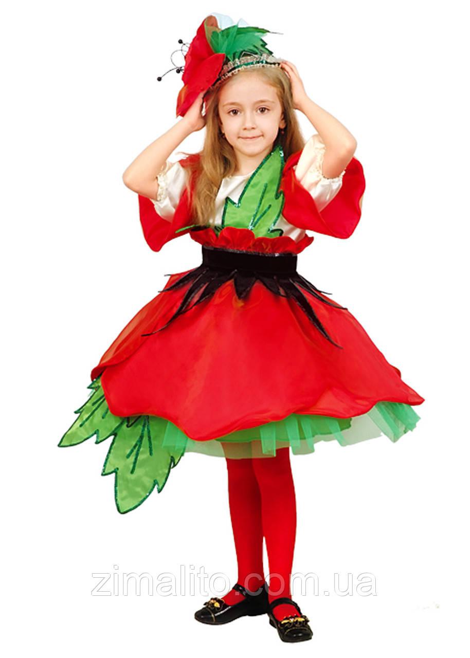 Красный Мак карнавальный костюм детский 28: продажа, цена ... - photo#14
