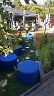 Наши клиенты прислали нам эти фото. Це на ВДНХ (Киiв 2017) архітектурний фестиваль, і у нас інсталяція на тему проблеми автодоріг. Пуфик синий диаметр 65см Цена 600грн