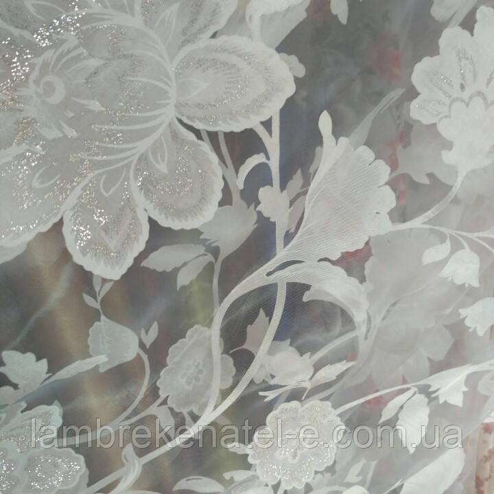 Тюль муар крупный цветок
