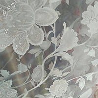 Тюль муар крупный цветок , фото 1