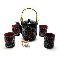 Чайный сервиз в восточном стиле Black Red