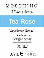Парфюмерное масло на разлив для женщин 167 «Cheap & Chic I Love Love Moschino»