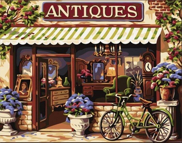 Картина по номерам Европейский магазинчик КНО113