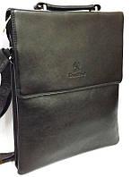 Мужская сумка Bradford 9827-5 черная формат A4 из искусственной кожи размеры 26см х 32см х 6см