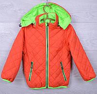 Куртка детская демисезонная 7-49 для мальчиков. 92-116 см (2-6 лет). Оранжевая. Оптом., фото 1