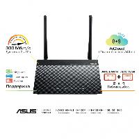 ADSL-роутер ASUS DSL-N14U ADSL2/2+, 802.11n 300Mbps 2x 5dBi ант съемн, 4xLAN, 1xRJ11, USB PrnSvr