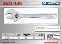 Ключ разводной 300х35мм., KING TONY 3611-12R