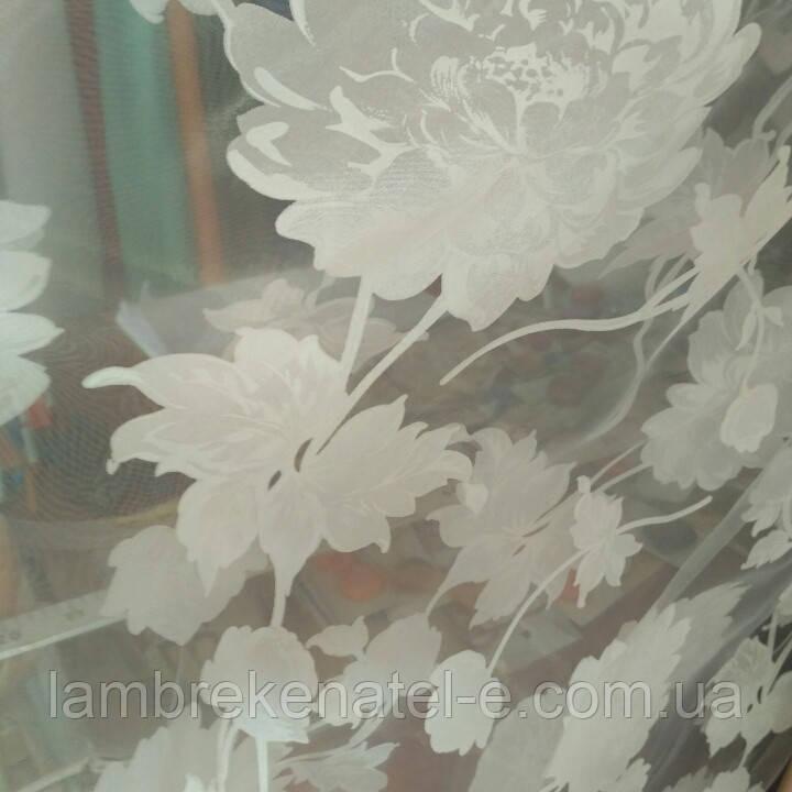 Тюль цветок шелк