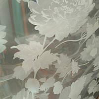 Тюль цветок шелк, фото 1