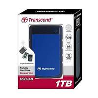 НЖМД Transcend StoreJet 2.5 USB 3.0 1TB серия H Blue (TS1TSJ25H3B)