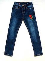 Джинсы узкие для девочки рост 134-164 см 7-14 лет
