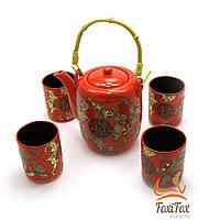 Чайный сервиз в восточном стиле Red/Black