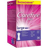Ежедневные прокладки Carefree Plus Large 36 шт.