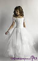 Детское пышное белое платье