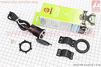 Зарядка USB универсальная  крепление в пластик/на руль для мототехники