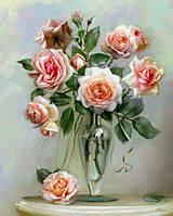 Картина по номерам Трепетные розы КНО2034 Идейка