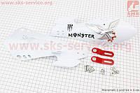 Защита для рук  комплект белый с креплением тип 2 для мототехники