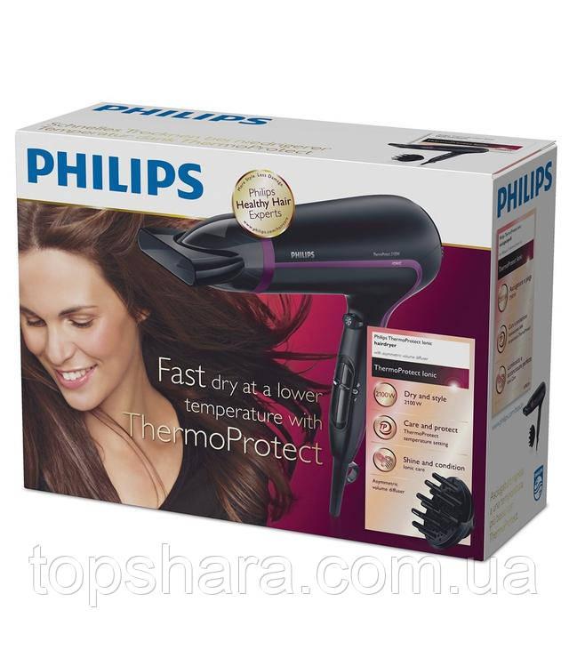Фен Philips HP8234/10 чорний/фіолетовий