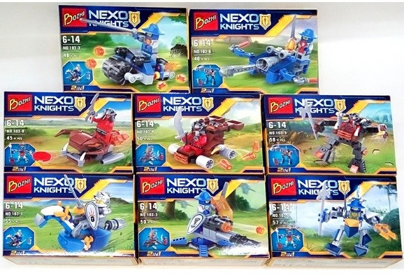 Конструктор Bozhi серия Nexo Knights 103-1/8 (Аналог Lego Nexo Knights) 8 видов ОПТом