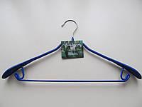 Вешалки металлические c резиновым покрытием с усиленными плечиками для костюма