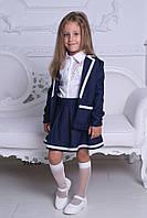 Юбка и пиджак для девочки школьная форма