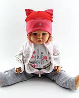 Трикотажная шапка одинарная детская и подростковая оптом 48-54р