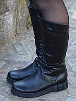 Сапоги кожаные на полную ногу