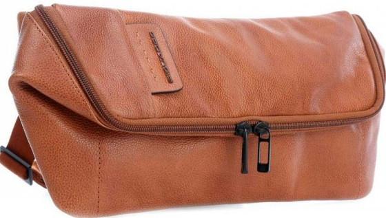 Шкіряна сумка на пояс Piquadro PULSE CA4176P15S_CU коричневий