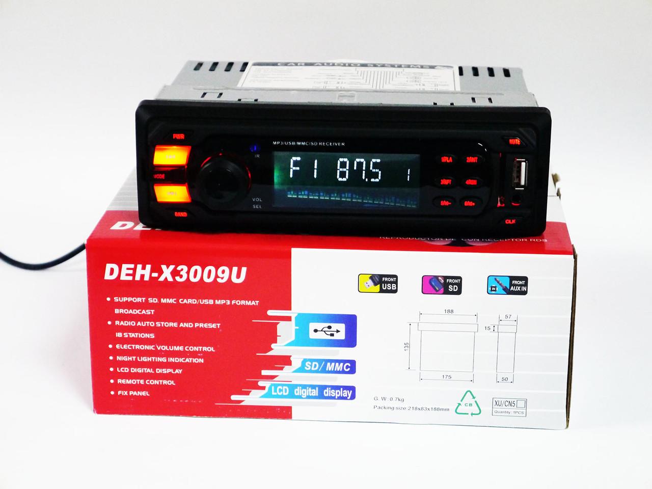 Автомагнитола Pioneer DEH-X3009U - USB+SD+FM+AUX