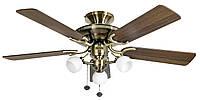 Потолочный вентилятор Mayfair латунь - дуб 107 см